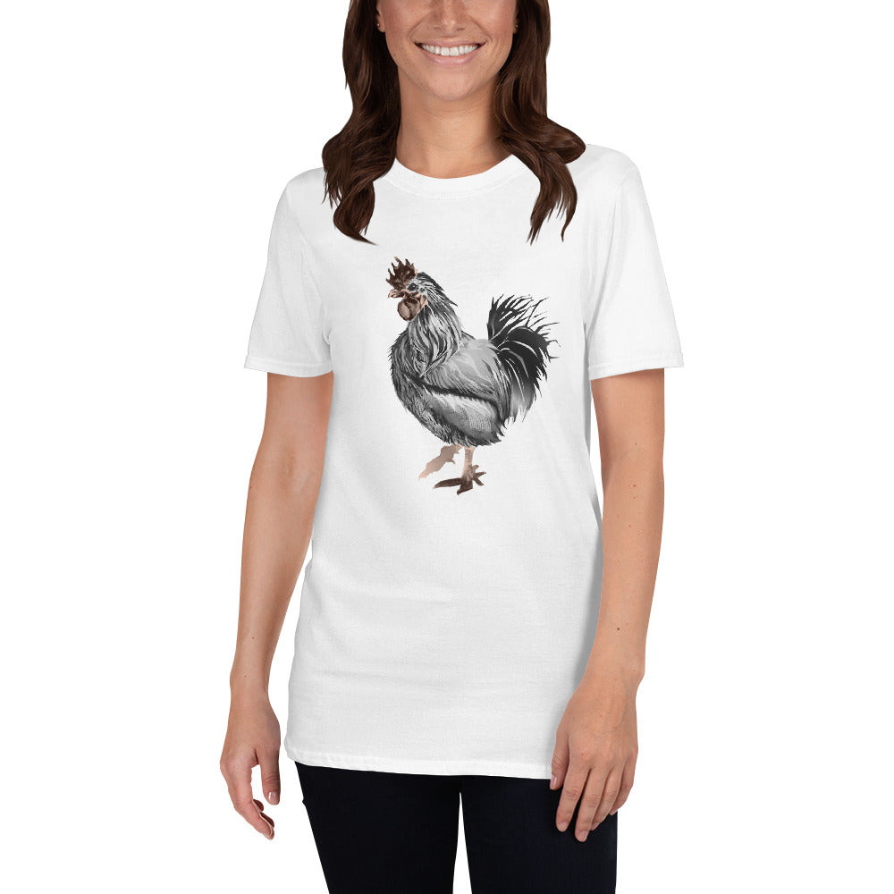 Rooster Strut (Silver) - Short-Sleeve Unisex T-Shirt