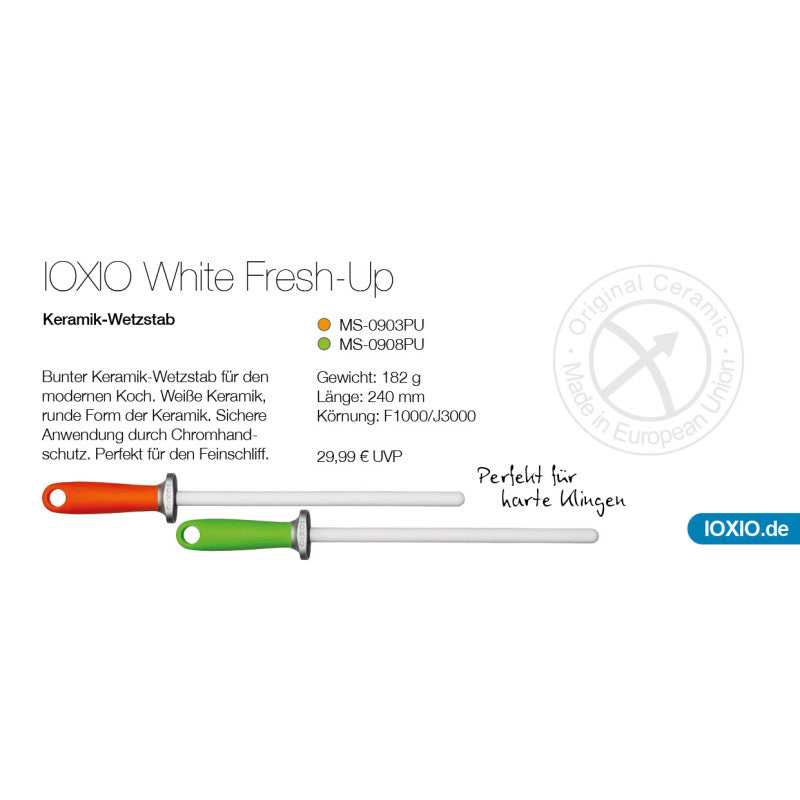 IOXIO® Keramik Wetzstab White Fresh Up