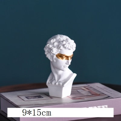 Nordic Style Gypsum Head Firenze Art Sculpture Giuliano de' Medici Figurine Creative Resin Craft Decorations For Home R3850