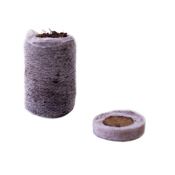 Compressed Coconut Coir Seed Starting Puck - Netted