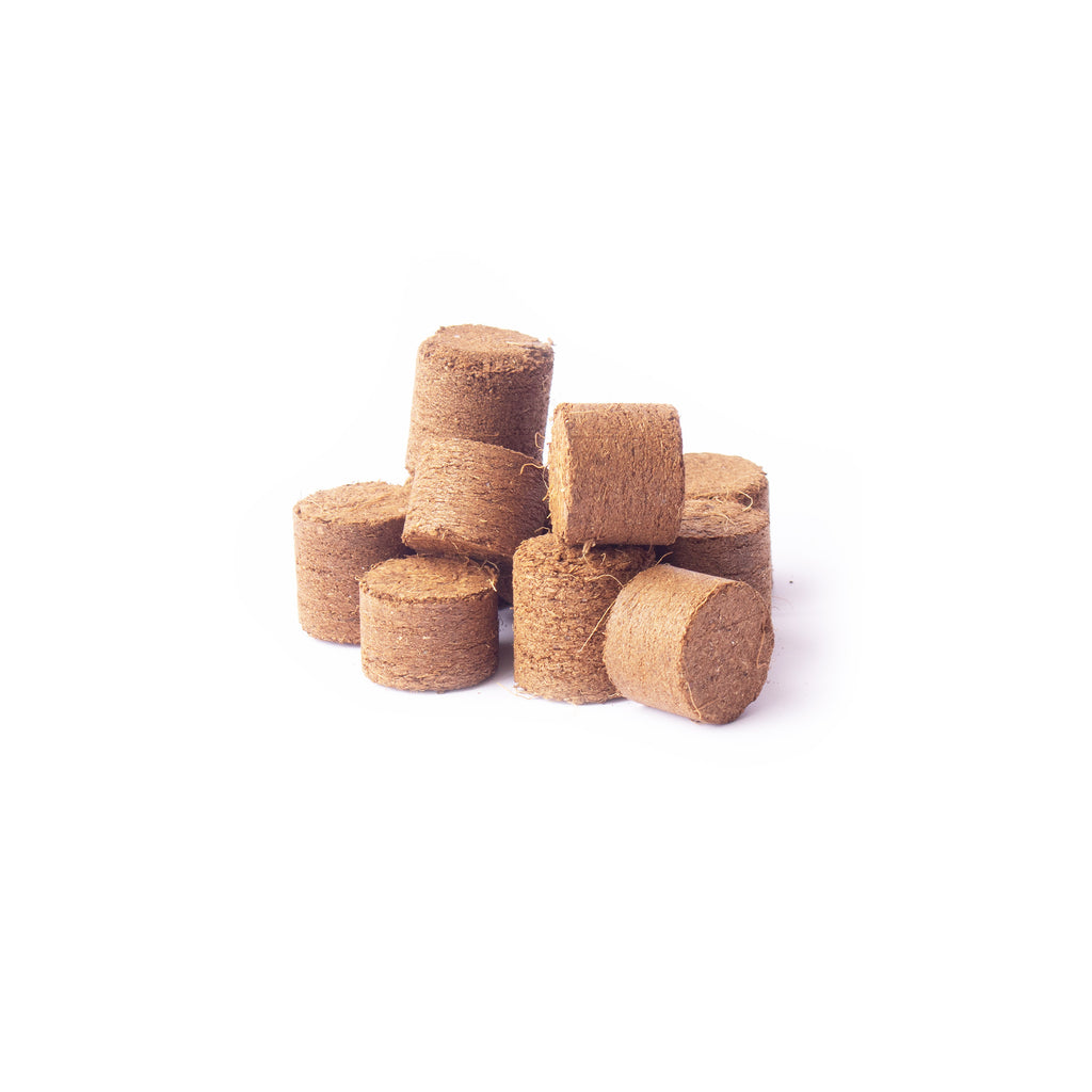 Compressed Coconut Coir growing media - 20 x 10 mm Pucks