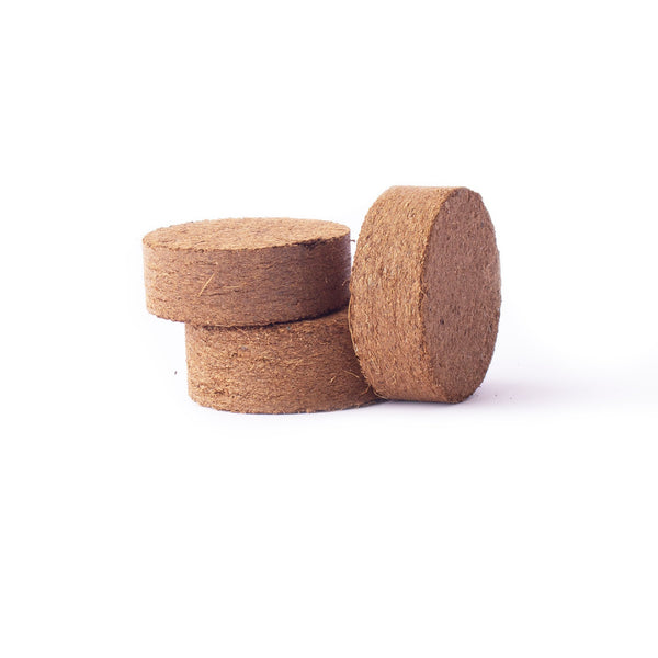 Compressed Coconut Coir growing media - 60 x 15 mm Pucks