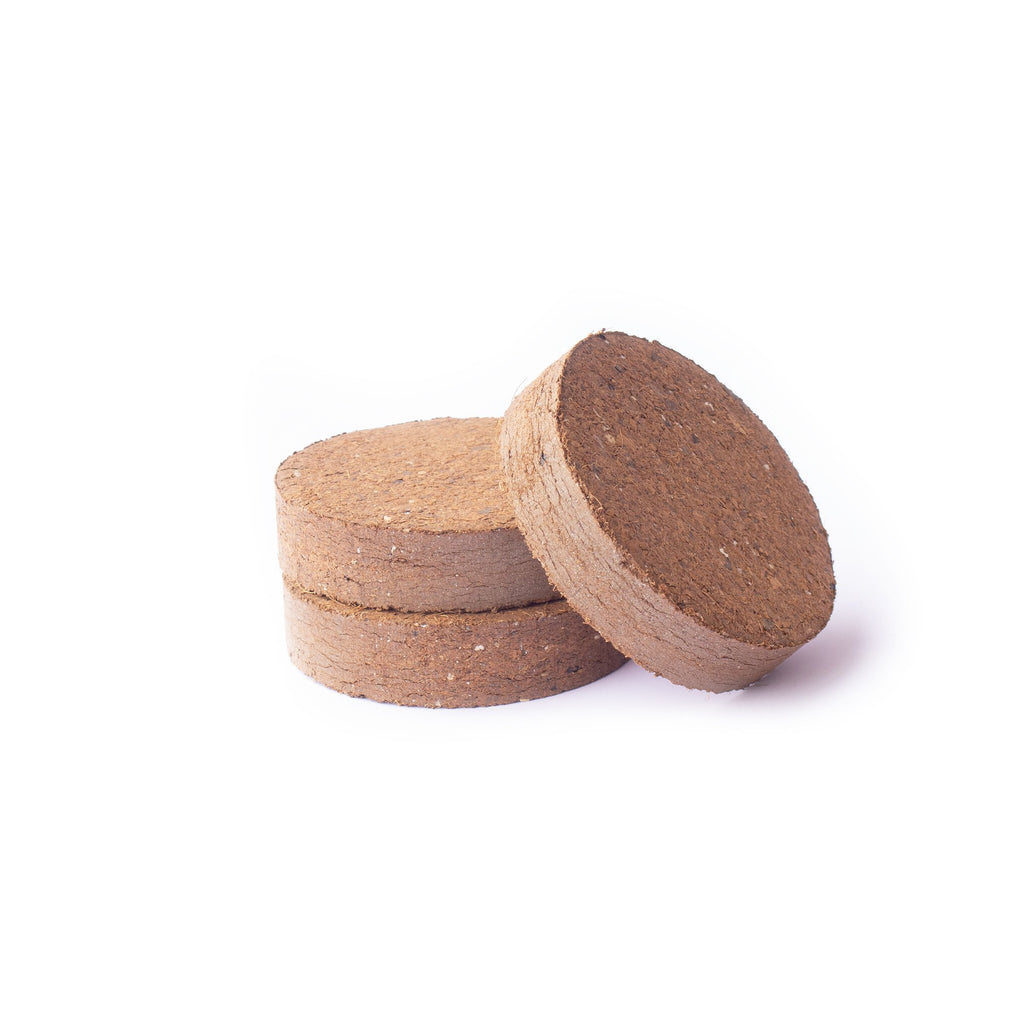 Compressed Coconut Coir growing media - 80 x 15 mm Pucks