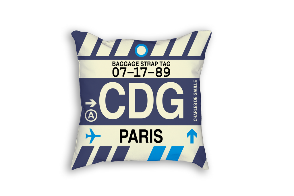 YHM Designs Introduces International Airport Code Baggage Tag Throw Pillows
