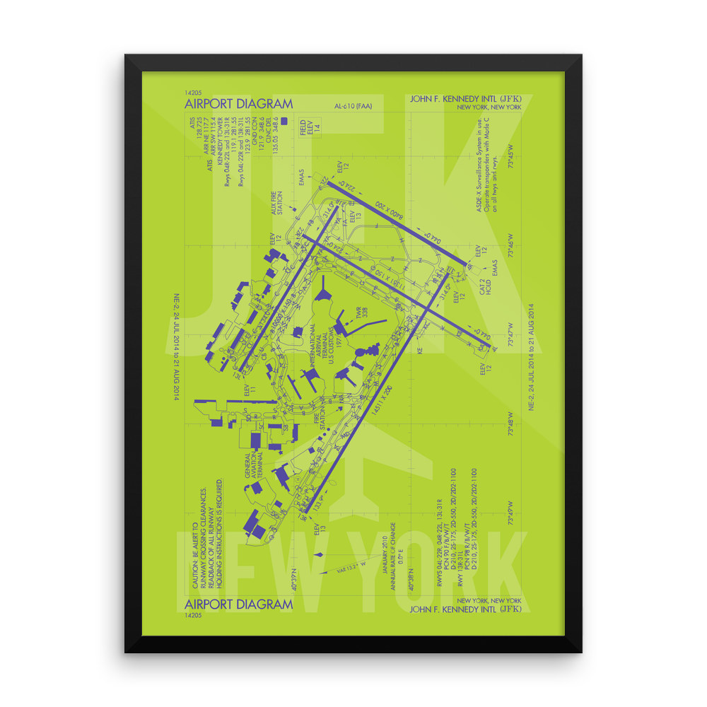 YHM Designs Introduces U.S. Airport Diagram Posters and Prints
