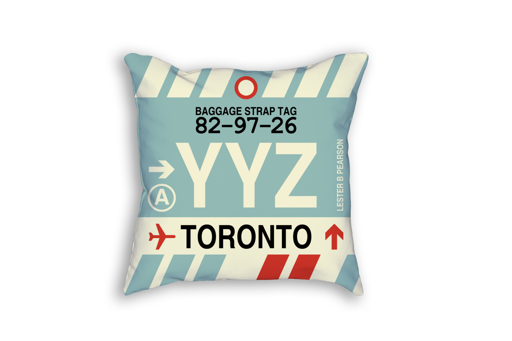 YHM Designs Introduces Canadian Airport Baggage Tag Pillows