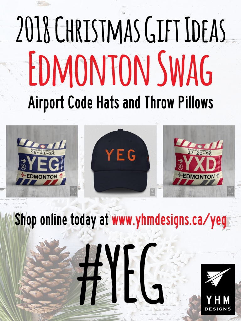 2018 Christmas Gift Ideas – YEG Edmonton Airport Code Swag – YHM Designs