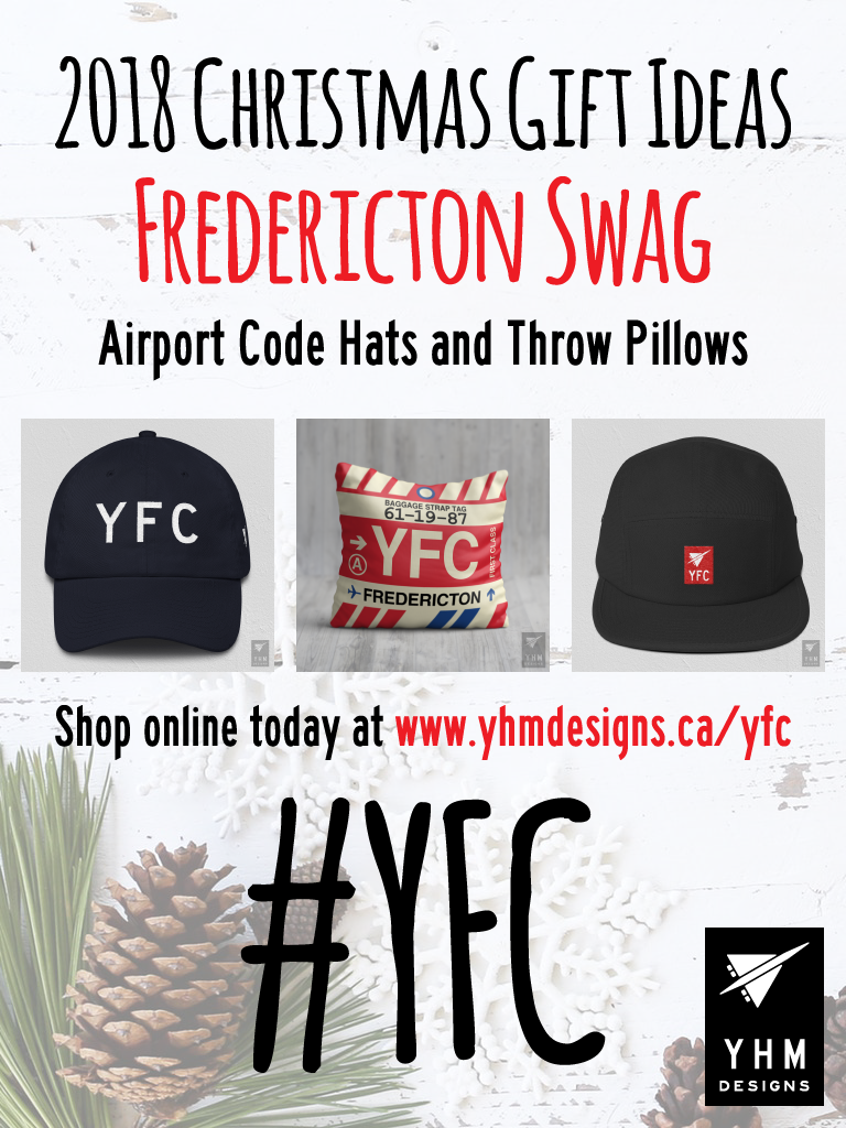 2018 Christmas Gift Ideas – YFC Fredericton Airport Code Swag – YHM Designs