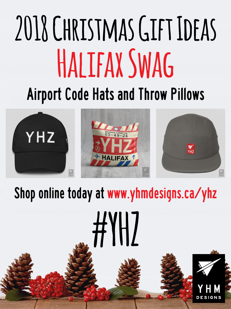 2018 Christmas Gift Ideas – YHZ Halifax Airport Code Swag – YHM Designs