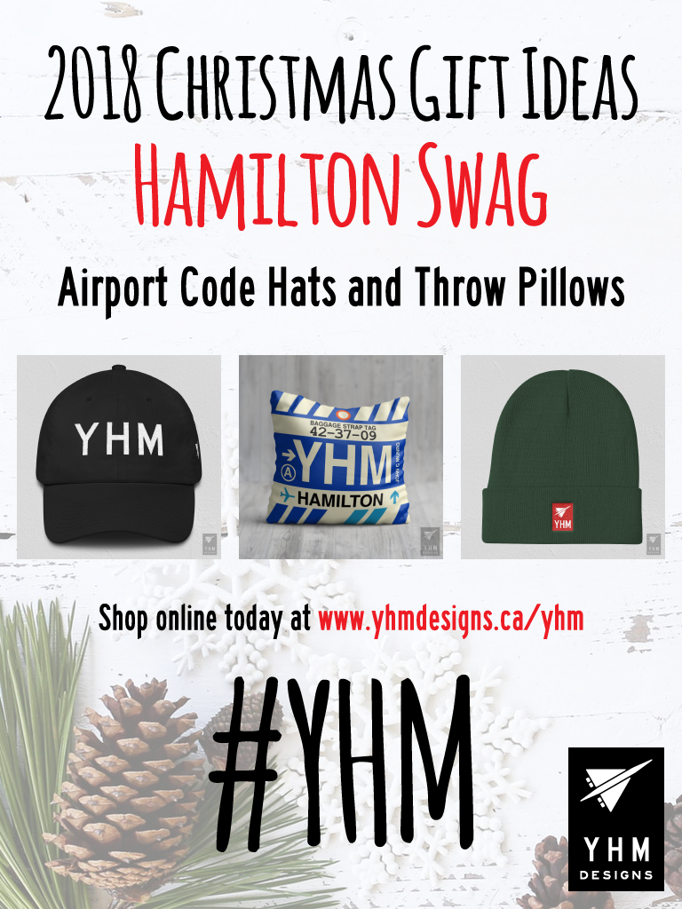 2018 Christmas Gift Ideas – YHM Hamilton Airport Code Swag – YHM Designs