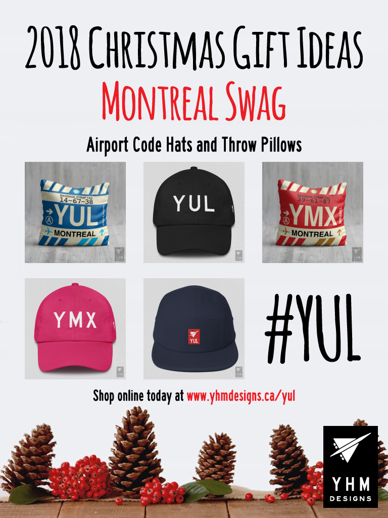 Montreal YUL Christmas Gifts – City-Themed Gear – YHM Designs