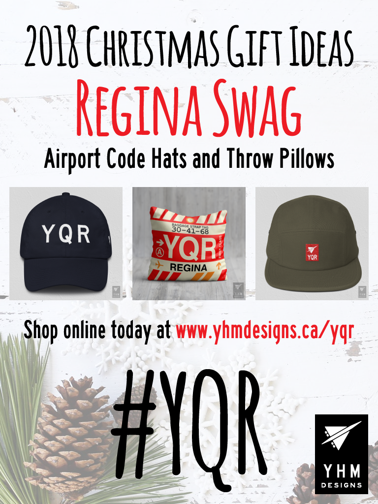 2018 Christmas Gift Ideas – YQR Regina Airport Code Swag – YHM Designs