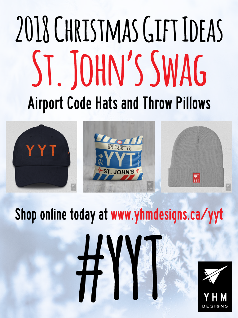 2018 Christmas Gift Ideas – YYT St. John's Airport Code Swag – YHM Designs