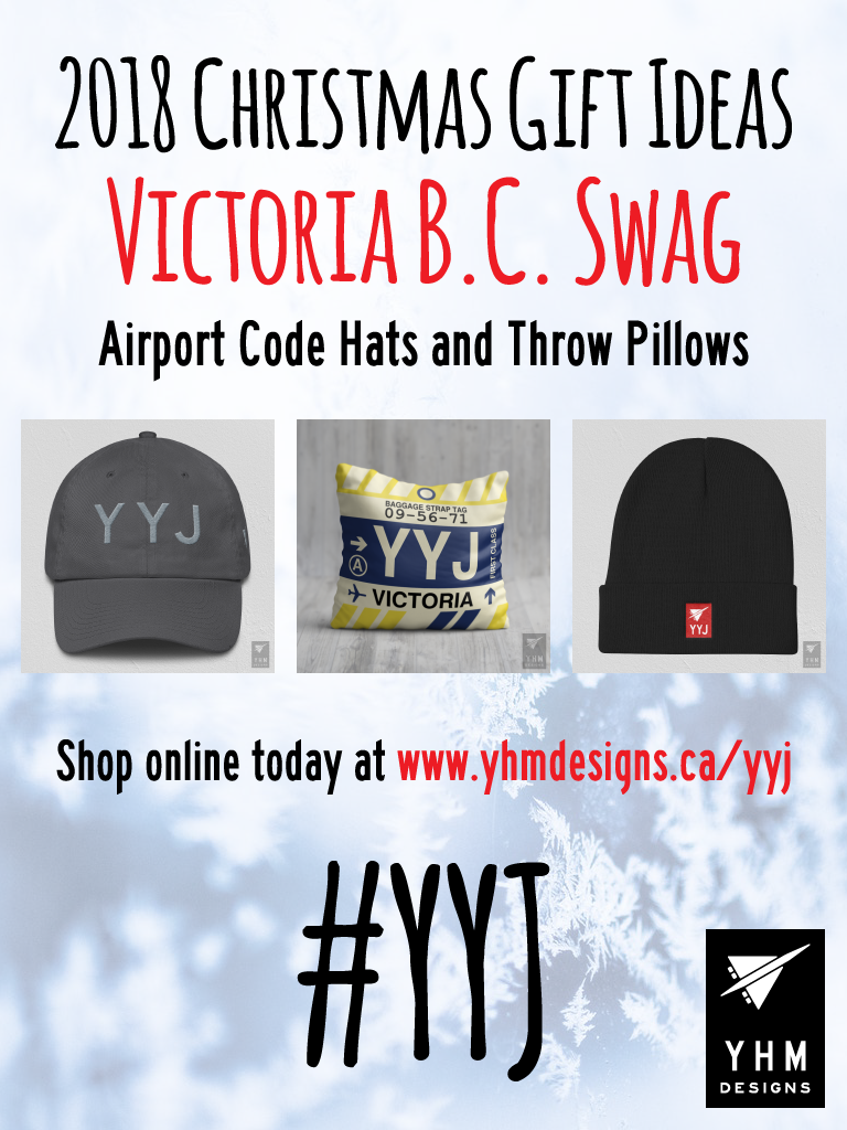 2018 Christmas Gift Ideas – YYJ Victoria Airport Code Swag – YHM Designs