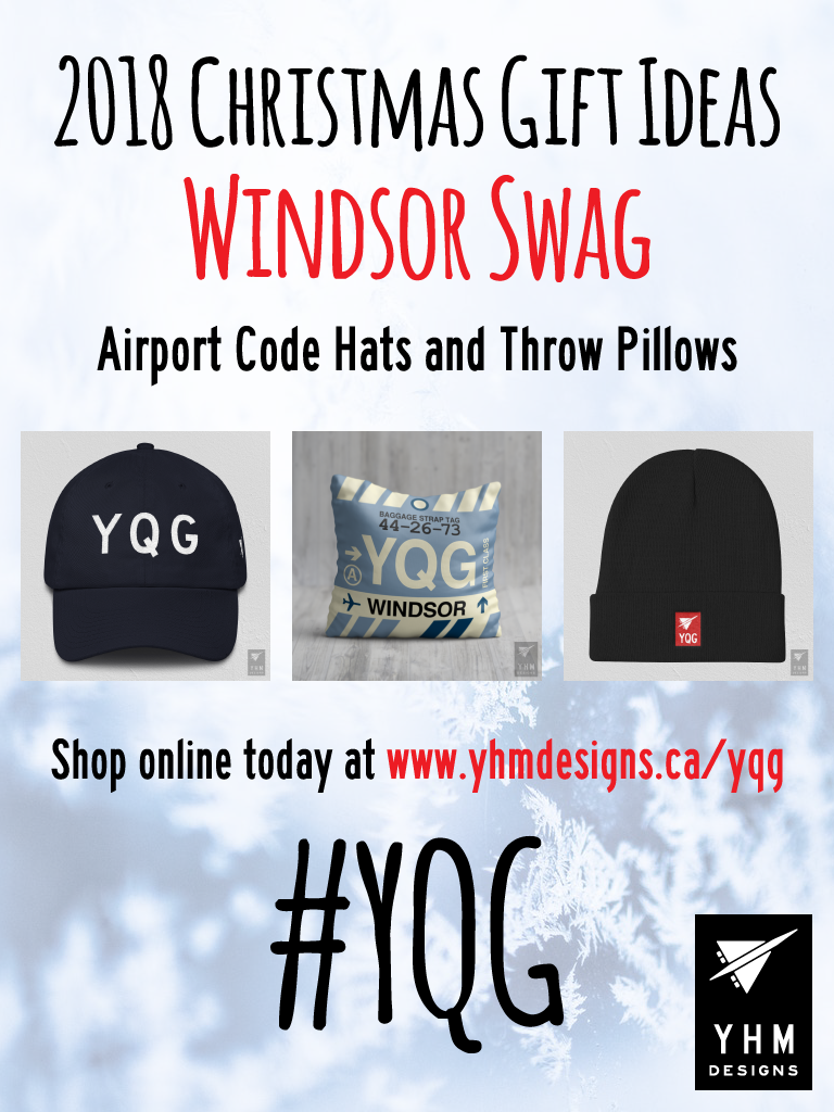 2018 Christmas Gift Ideas – YQG Windsor Airport Code Swag – YHM Designs