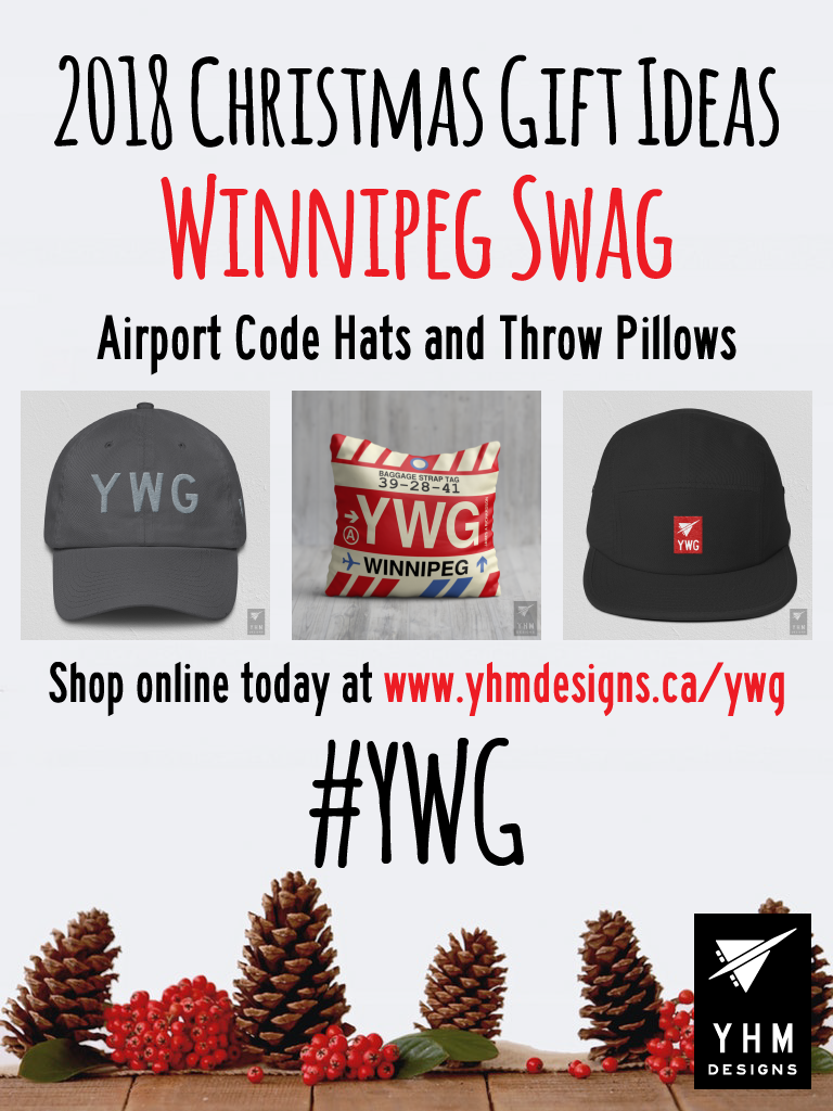 2018 Christmas Gift Ideas – YWG Winnipeg Airport Code Swag – YHM Designs