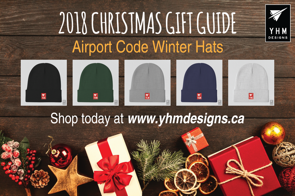 2018 Christmas Gift Guide Airport Code Winter Hats - City-Themed Products - YHM Designs