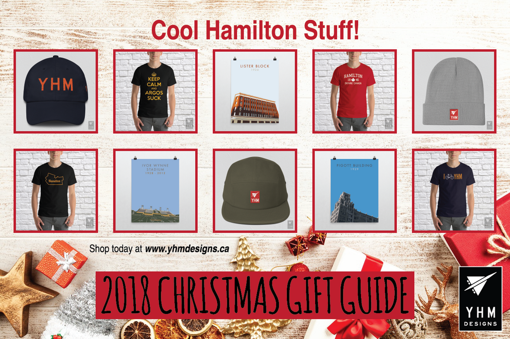 2018 Christmas Gift Guide Hamilton Ontario - City-Themed Products - YHM Designs