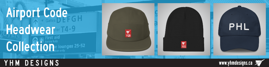 Airport Code Headwear Collection - YHM Designs