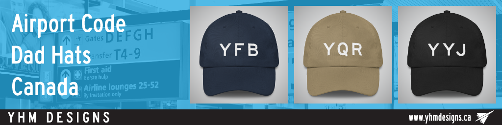Canada Airport Code Dad Hats - YHM Designs