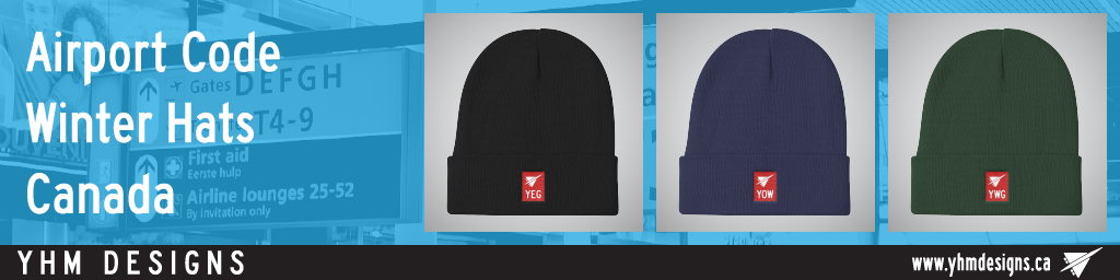 Canada Airport Code Winter Hats - YHM Designs