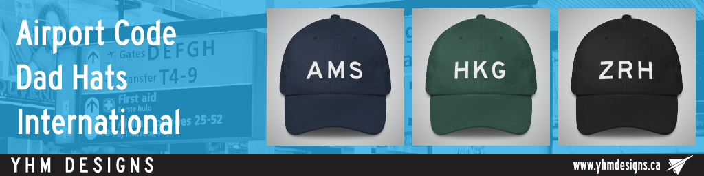 International Airport Code Dad Hats - YHM Designs