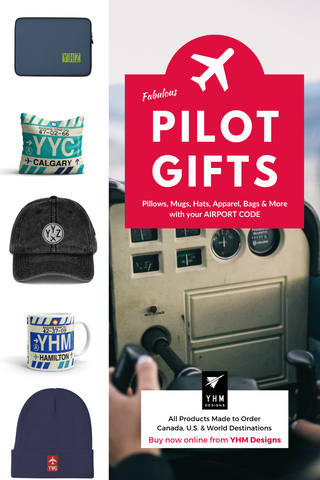 Pilot Gifts - Made-to-Order Pillows, Mugs, Hats, Bags - YHM Designs