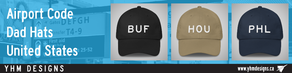 US Airport Code Dad Hats - YHM Designs
