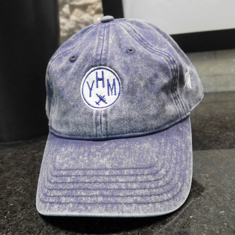 YHM Hamilton Airport Code Cotton Twill Cap - City-Themed Gear - YHM Designs