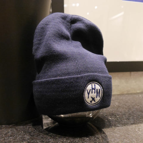 YHM Hamilton Airport Code Winter Hat - City-Themed Gear - YHM Designs