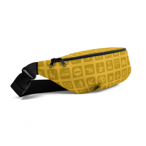 YHM Designs  •  Airport Symbols Fanny Pack • Citrine Yellow 1