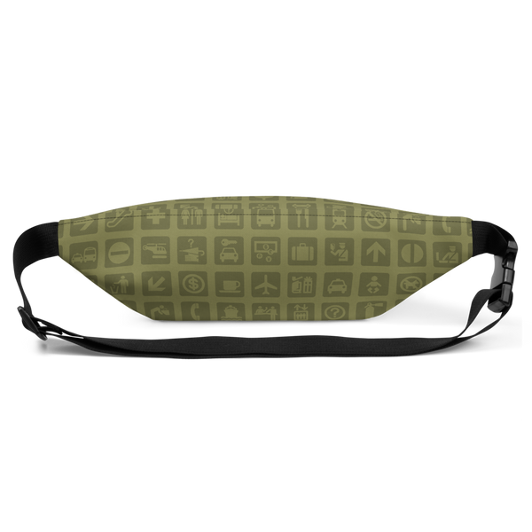 YHM Designs  •  Airport Symbols Fanny Pack • Fresh Olive Green 4
