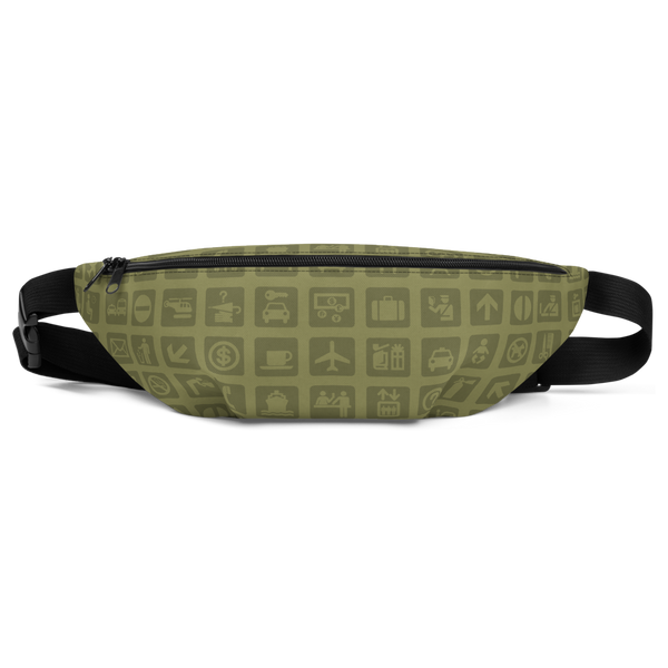 YHM Designs  •  Airport Symbols Fanny Pack • Fresh Olive Green 2