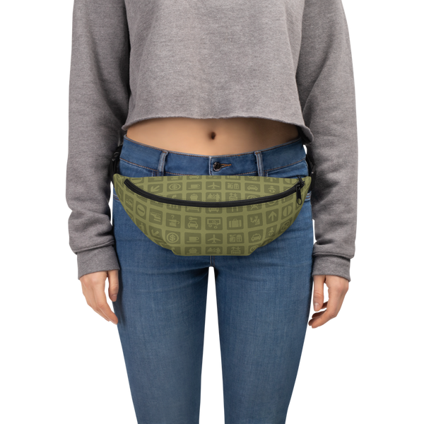 YHM Designs  •  Airport Symbols Fanny Pack • Fresh Olive Green 6