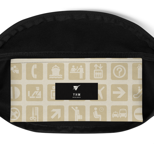 YHM Designs  •  Airport Symbols Fanny Pack • Fresh Olive Green 10