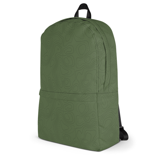 "YHM Designs  •  Contour Map Design 15.6"" Laptop Backpack • Mid-Green 3"