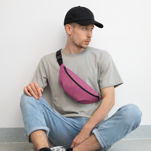 YHM Designs  •  Contour Map Fanny Pack • Fuchsia 5