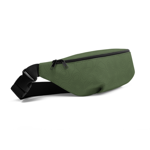 YHM Designs  •  Contour Map Fanny Pack • Mid-Green 1