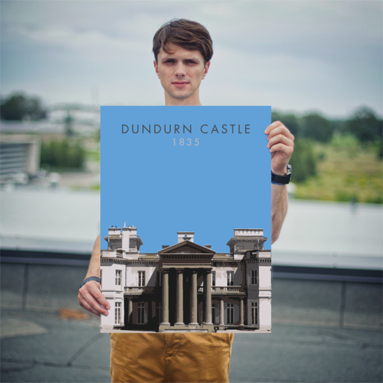 "YHM Designs - Dundurn Castle Poster 8""x10"" 2"