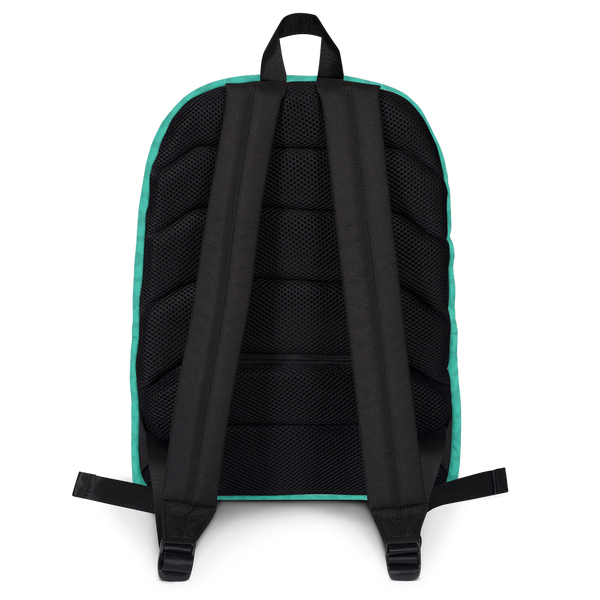 "YHM Designs  •  Eiffel Tower Pattern 15.6"" Laptop Backpack • Turquoise 4"