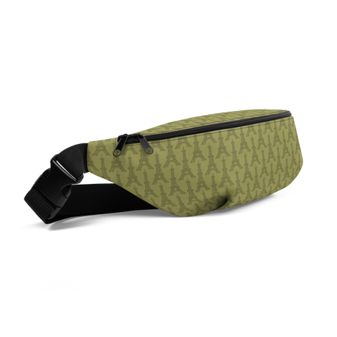 YHM Designs  •  Eiffel Tower Fanny Pack • Light Moss Green 1