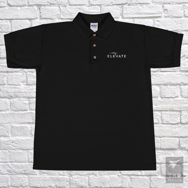Elevate Embroidered Polo Shirt - City-Themed Products - YHM Designs