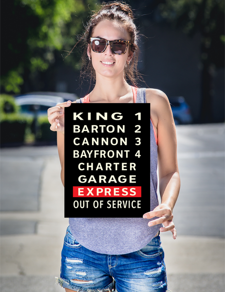 "YHM Designs - Hamilton Bus Roll Poster 12""x16"" 2"