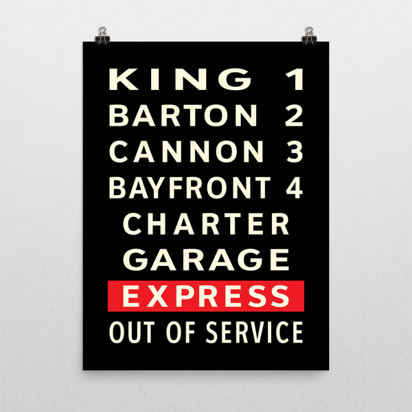 "YHM Designs - Hamilton Bus Roll Poster 18""x24"" 2"