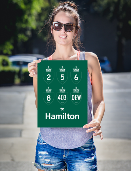 "YHM Designs - Hamilton Highways Poster 12""x16"" 2"