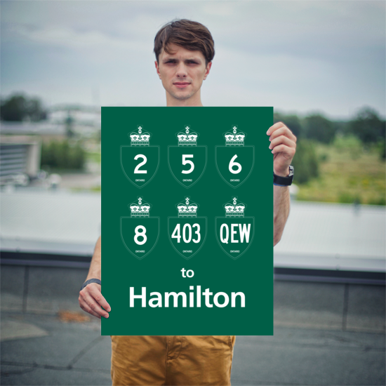 "YHM Designs - Hamilton Highways Poster 18""x24"" 3"