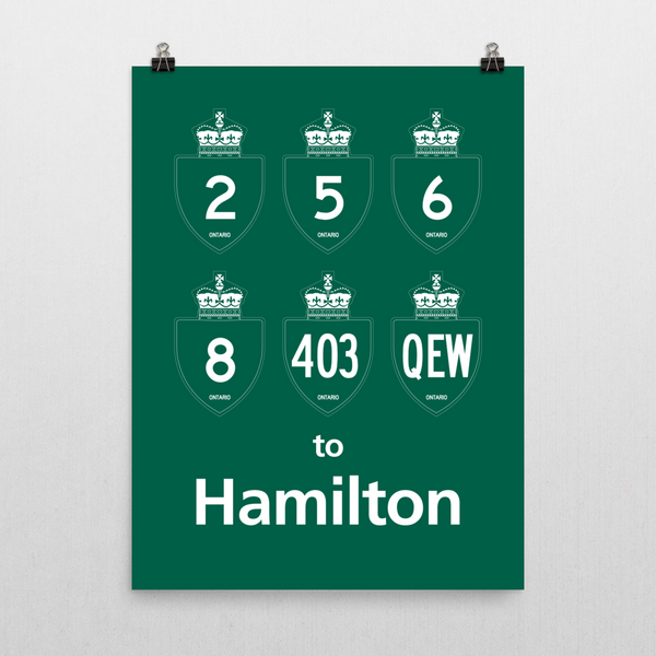 "YHM Designs - Hamilton Highways Poster 18""x24"" 2"