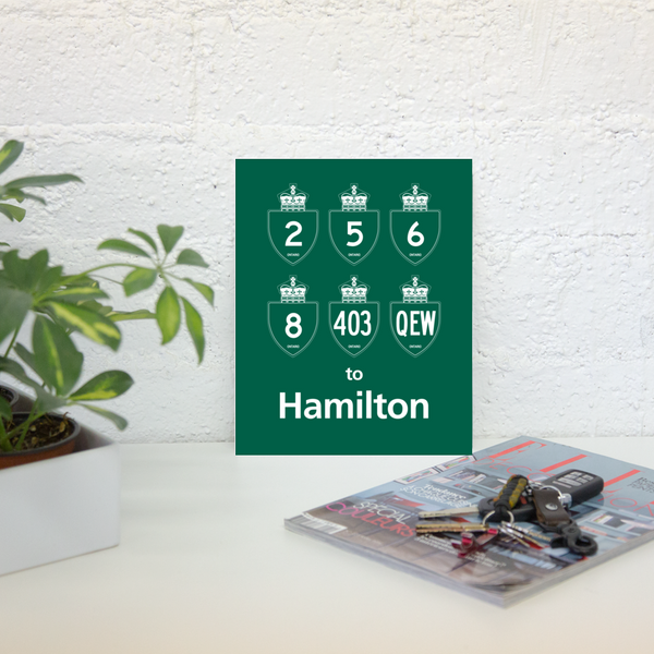 "YHM Designs - Hamilton Highways Poster 8""x10"" 2"