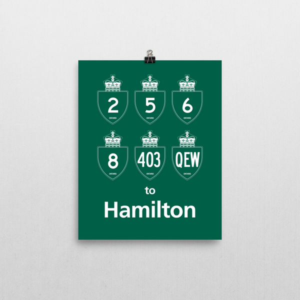 "YHM Designs - Hamilton Highways Poster 8""x10"" 1"