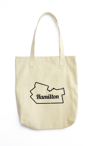 YHM Designs - Hamilton Map Outline Tote